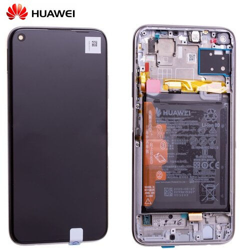 Original Huawei P40 Lite LCD Display Touch Screen Bildschirm Rahmen mit Akku Breathing Crystal