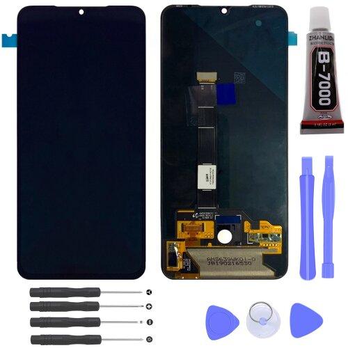 Xiaomi Mi 9 OLED LCD Display Bildschirm Glas Scheibe Touch Screen Schwarz