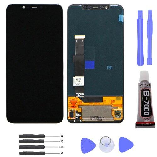 Xiaomi Mi 8 LCD Display Bildschirm Glas Scheibe Touch Screen Schwarz