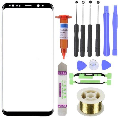 Samsung Galaxy S9 SM-G960F Front Glas Touch Screen LCD Display Scheibe Schwarz
