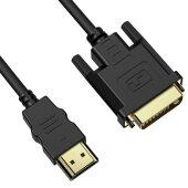 1,8m DVI auf HDMI Kabel DVI-D DVI 24+1 Stecker Adapter 1080P