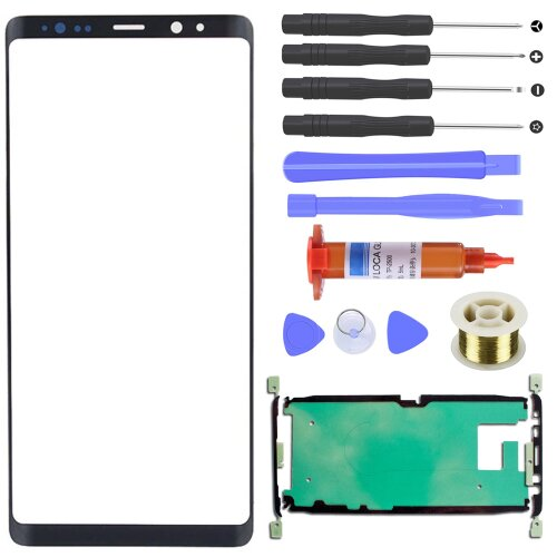 Samsung Galaxy Note 8 N950 Front Glas Touch Screen LCD Display Scheibe Schwarz