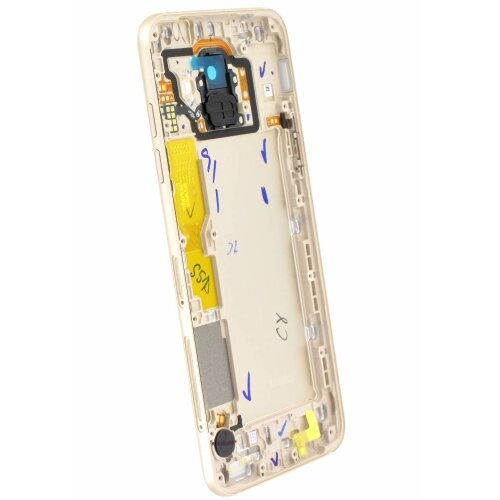 Original Samsung Galaxy A6 2018 A600FN/DS Akkudeckel Back Cover GH82-16423D Gold