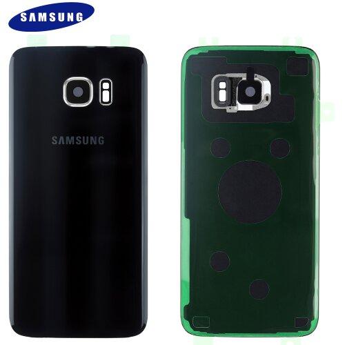 Original Samsung Galaxy S7 EDGE G935F Akkudeckel Back Cover + Kamera Linse GH82-11346A Schwarz