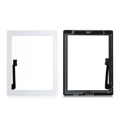 iPad 3 9,7 Zoll Front Display Digitizer Panel Glas Scheibe Touch Screen + Homebutton Weiß