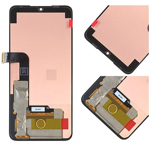 LG G8X ThinQ LCD Display Bildschirm Glas Scheibe Touch Screen Digitizer Schwarz