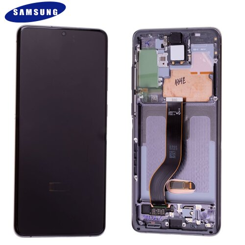 Samsung Galaxy S20 Plus G985F / S20 Plus 5G G986B LCD Display Touch Screen Silber