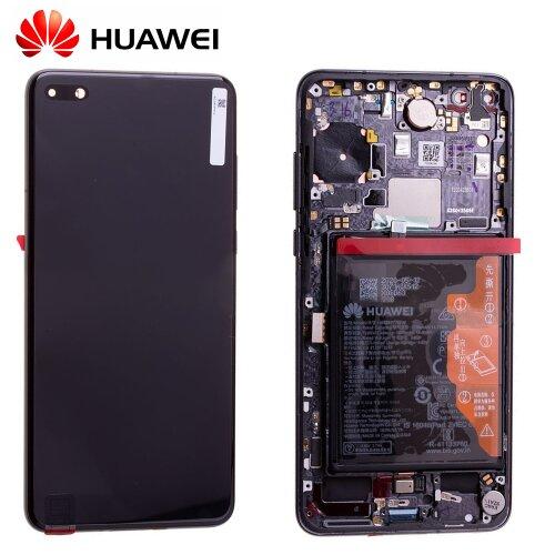 Original Huawei P40 OLED LCD Display Touch Screen mit Akku Schwarz 02353MFA