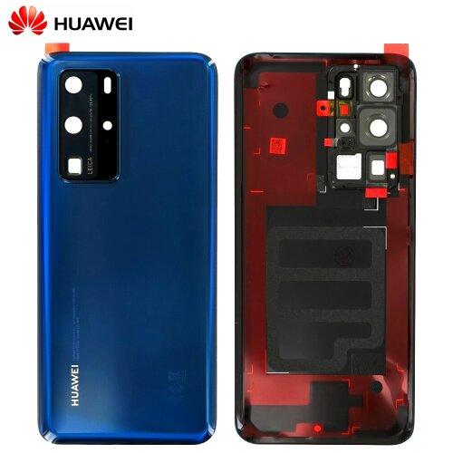 Original Huawei P40 Pro Akkudeckel Battery Cover Backcover Rückseite Blau 02353MMS