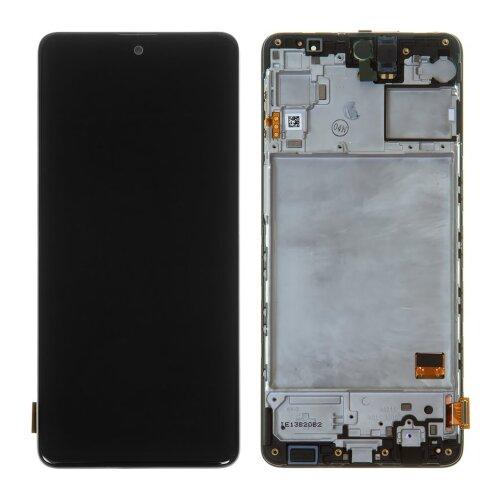 Original Samsung Galaxy M31s SM-M317F LCD Display Touch Screen (Service Pack) Schwarz