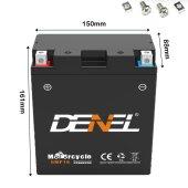 Gel Motorradbatterie Roller ATV Quad Batterie Battery...