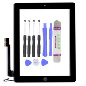 iPad 4 9,7 Zoll Front Display Digitizer Panel Glas...