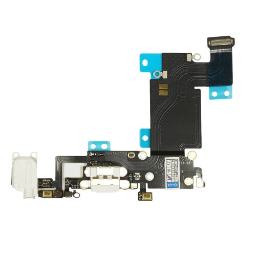 Ladebuchse für  iPhone 6S + Plus Dock Connector Antenne Audio Jack Flex  Weiß