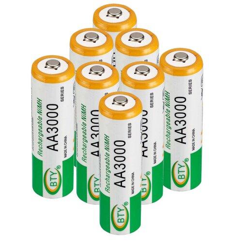 4x AA Wiederaufladbare Wiederaufladbar Rechargeable Batterie 3000mAh