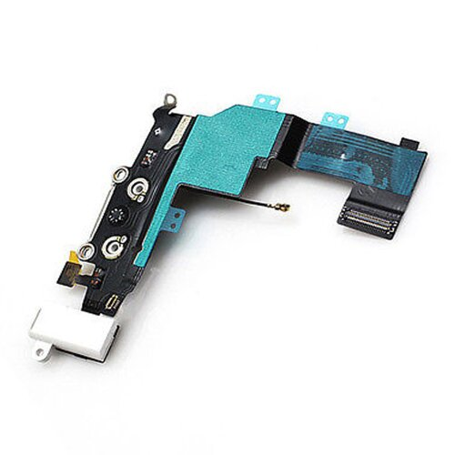 iPhone 5S Dock Connector Antenne Audio Jack Flex Kabe Lightning Ladebuchse Mikrofon Weiß