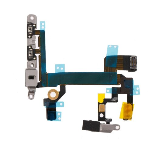 iPhone 5S Power Button Flex Kabel Mikrofon Blitz Licht Ein Aus On Off Taste