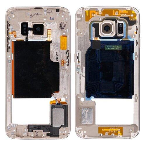Samsung Galaxy S6 EDGE SM-G925F Mittelrahmen Rahmen Gehäuse Cover Middle Frame Gold